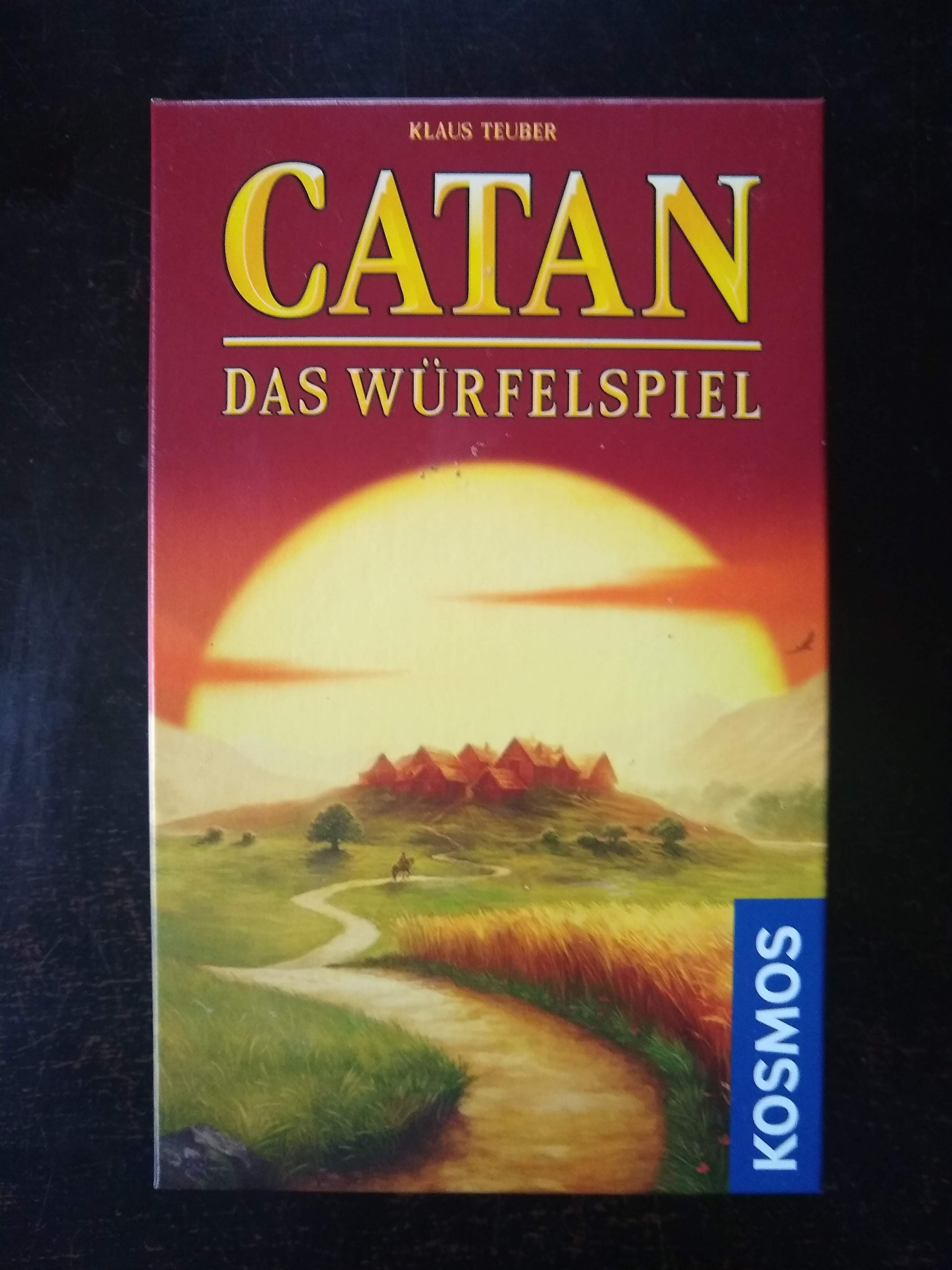 Catan dice game box